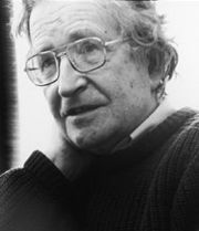 Portrait of Avram Noam Chomsky (click to view image source)