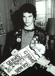 Portrait of Darby Crash  (click to view image source)