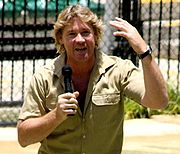 Portrait of Steve Irwin (click to view image source)