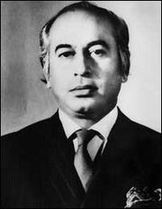 Portrait of Ali Zulfikar Bhutto (click to view image source)