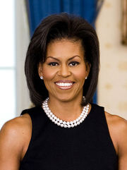 Portrait of Michelle Obama (click to view image source)