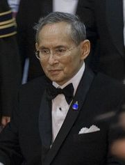Portrait of King of Thailand Bhumipol (click to view image source)
