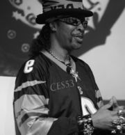 Portrait of Bootsy Collins (click to view image source)