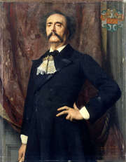 Portrait of Jules Amédée Barbey d'Aurevilly  (click to view image source)
