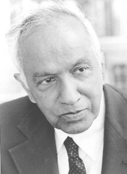 Portrait of Subrahmanyan Chandrasekhar  (click to view image source)
