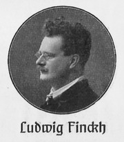 Portrait of Ludwig Finckh  (click to view image source)