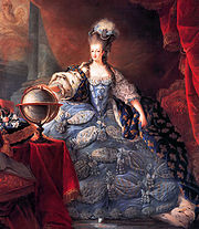 Portrait of Queen Consort Marie Antoinette (click to view image source)