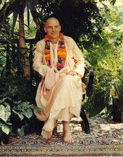 Portrait of Swami Bhaktipada  (click to view image source)