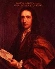 Portrait of Edmond Halley (click to view image source)