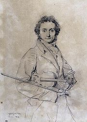 Portrait of Niccolo Paganini (click to view image source)