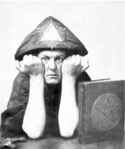 Portrait of Aleister Crowley  (click to view image source)