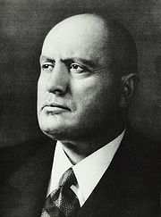 Portrait of Benito Mussolini  (click to view image source)