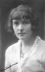 Portrait of Katherine Mansfield (click to view image source)