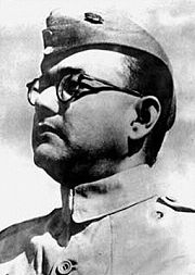Portrait of Subhas Chandra Bose  (click to view image source)