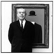 Portrait of René Magritte  (click to view image source)