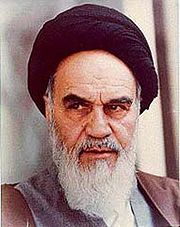Portrait of Ruhollah Khomeini (click to view image source)