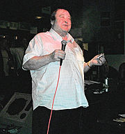 Portrait of Bernard Manning (click to view image source)