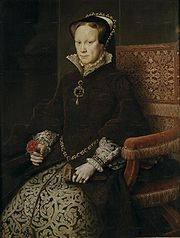 Portrait of Queen of England Mary (click to view image source)