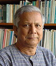 Portrait of Mohammad Yunus (click to view image source)